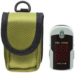 Choicemed Fingertip Pulse Oximeter with Lanyard and Protecti