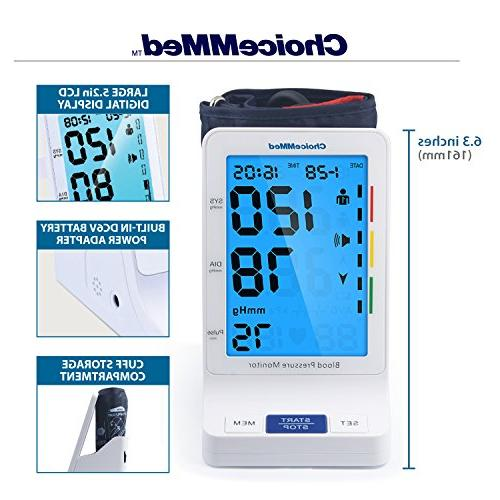 CHOICEMMED Blood Pressure with Talking Function - Blood Pressure Large BP BP Blood with Batteries