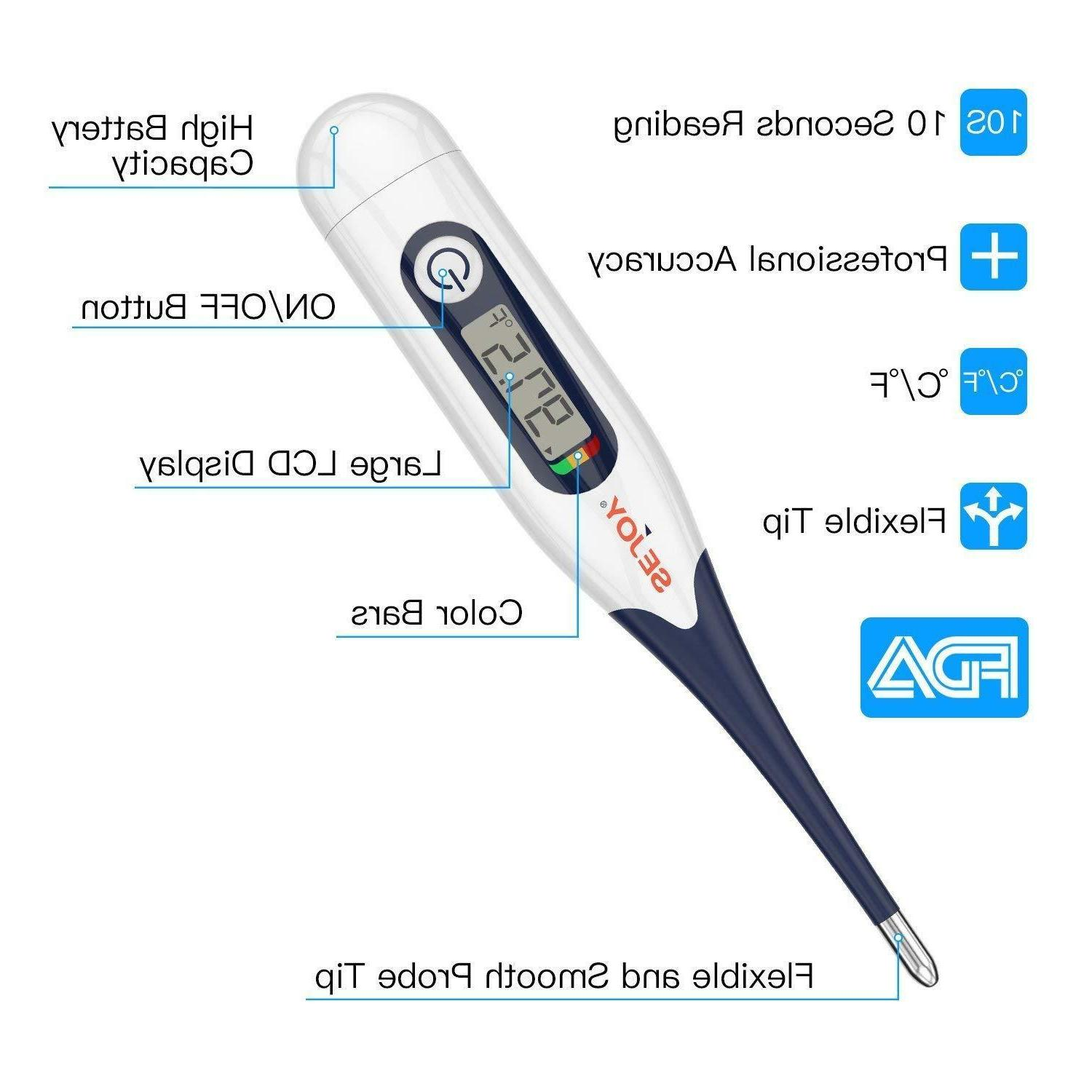 Digital Flexible Soft Tip Medical Thermometer