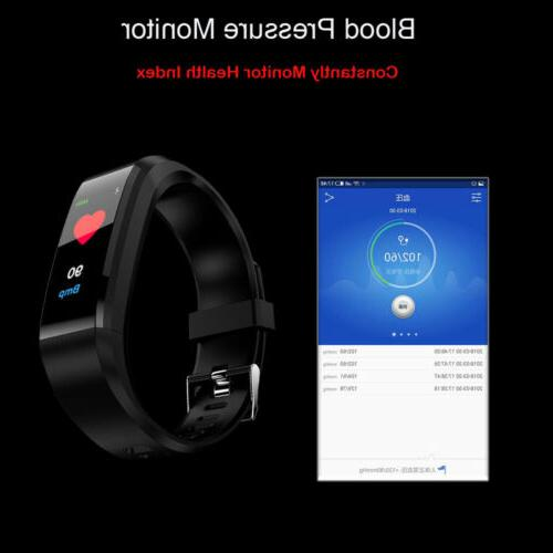 Fitness Tracker Rate Monitor Smart Watch
