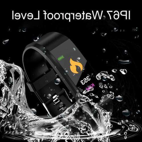 fitness tracker screen heart rate monitor blood