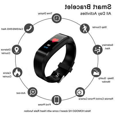 Fitness Tracker Smart Watch Rate Monitor Blood Anti-lost