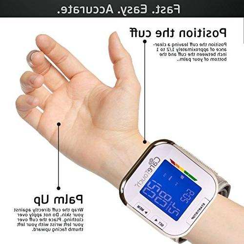 Care Touch Automatic Wrist Cuff Monitor Series, Size- Batteries