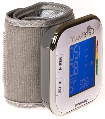 """Care Fully Wrist Blood Pressure Monitor - 5.5"""" Size- Batteries Included"""