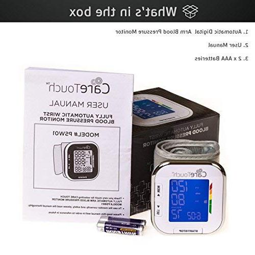 """Care Touch Wrist Monitor Platinum 5.5"""" - 8.5"""" Size-"""