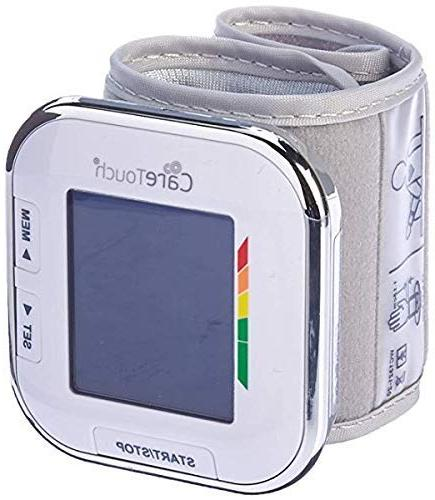 """Care Touch Fully Wrist Pressure Monitor - Platinum 5.5"""" Size-"""