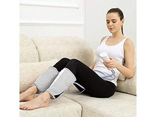 Amzdeal Leg Massager Compression Leg Calf Foot Built-in Battery Design