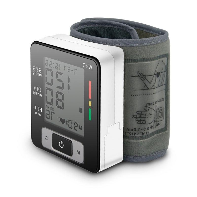 Portable Tonometer Wrist Sphygmomanometer <font><b>Monitor</b></font> Heart Pulse Rate BP measurement