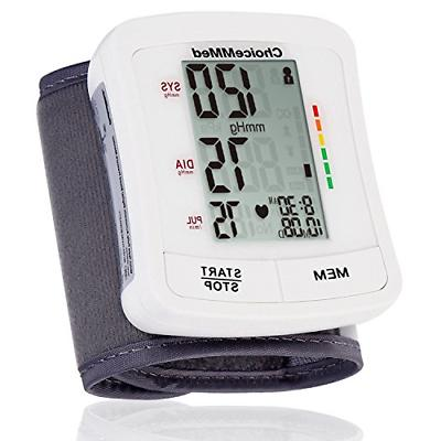 CHOICEMMED Wrist Blood Pressure Monitor - BP Cuff Meter with